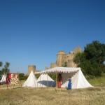 Tente médiévale et auvent, Loarre Aragon